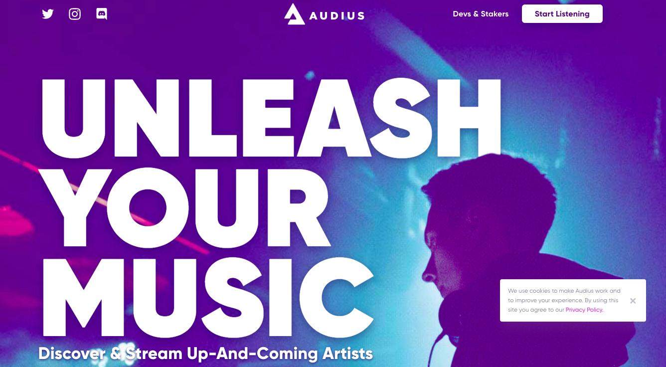 Su Audius puoi promuoverti come musicista e ascoltare gratis brani inediti
